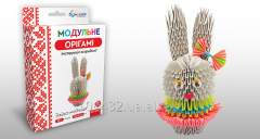 Set for creativity of ZD of origami Hare woman of