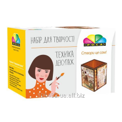 Set for creativity in equipment a decoupage, a