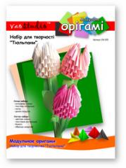 Set for creativity modular origami OK-020 Tulips