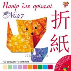 Set of color paper for origami 16kh16sm 950283