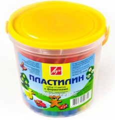 Plasticine in a plastic bucket 11tsv.220gr with