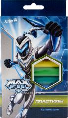 Plasticine soft 12tsv 200gr Max Steel 25721