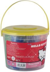 Plasticine soft 7tsv500gr in a plastic bucket of