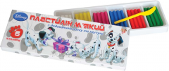 Plasticine soft with addition of wax and rubber of