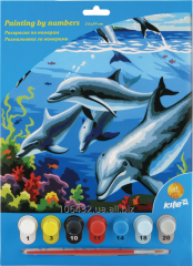 Coloring according to numbers 22kh29sm Dolphins