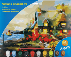 Coloring according to the numbers 39kh29sm Lodge