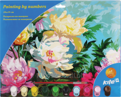 Coloring according to numbers 39kh29sm Flowers