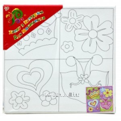 Canvas for drawing with a contour 25kh25sm +