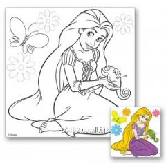Canvas with a contour Rapunzel 25smkh25sm + paints