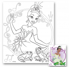 Canvas with a contour for drawing 25kh30sm Tiana
