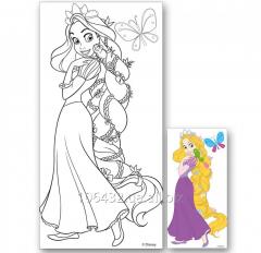 Canvas with a figure 15kh30sm contour Rapunzel +