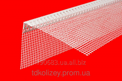 Angular plastic protective profile with a grid of