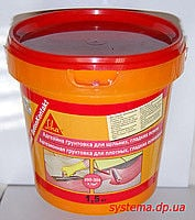 Adhesive primer for dense, smooth surfaces of Sika