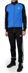 Спортивный костюм Adidas черный с синим