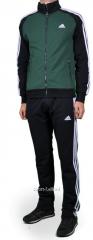 Спортивный костюм Adidas черно-зеленый