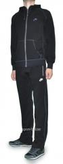 Спортивный костюм Nike черный на молнии