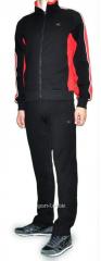 Спортивный костюм MXC черный с красным мужской