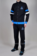 Спортивный костюм MXC черный с синей резинкой