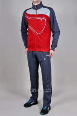 Спортивный костюм MXC серый с красным мужской