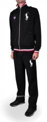 Спортивный костюм Polo черный с резинкой