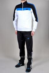 Спортивный костюм Adidas черный с белым