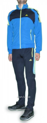 Спортивный костюм Adidas мужской серые с голубой мастеркой