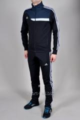Спортивный костюм Adidas черный с зауженными штанами