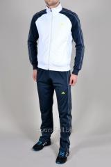 Спортивный костюм Adidas синий с белым