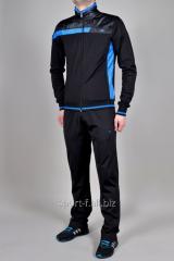 Спортивный костюм MXC черный с голубым