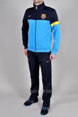 Спортивный костюм Nike FC Barselona черный с голубым