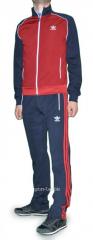 Спортивный костюм Adidas мужской серый с красным