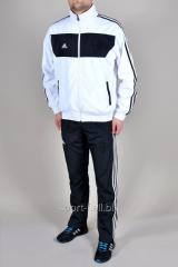 Спортивный костюм Adidas 11 pro штаны черные мастерка белая