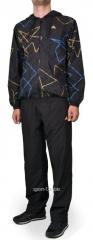 Спортивный костюм Adidas черный с абстрактным рисунком