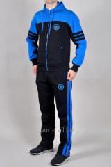 Зимний спортивный костюм темно-синий Adidas