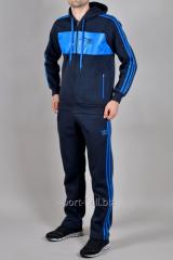 Зимний спортивный костюм Adidas синий трикотаж