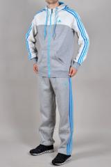 Зимний спортивный костюм Adidas серый