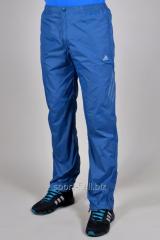 Брюки спортивные голубые Adidas летние