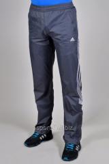 Брюки спортивные Adidas летние серые