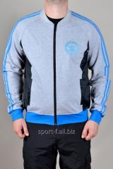 Мастерка Adidas серо-голубая