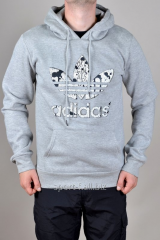 Балахон Adidas серый