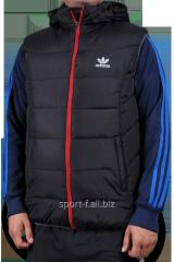 Жилет мужской черный на молнии Adidas