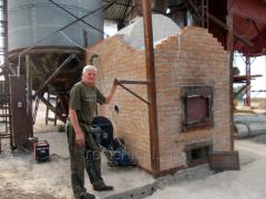 The heatgenerator for a zernosushilok (pyrolysis