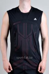 Безрукавка Adidas черная с рисунком