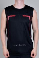 Безрукавка Adidas черная с красным рисунком