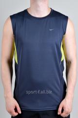 Безрукавка Nike серая с желтыми полосами