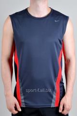 Безрукавка Nike серая с красными полосками