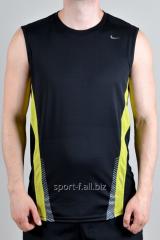 Безрукавка Nike черная с желтыми полосами