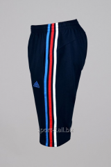 Бриджи Adidas синие с полосами