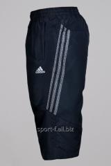 Бриджи Adidas черные с белыми полосами