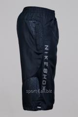 Бриджи Nike серые с надписью
